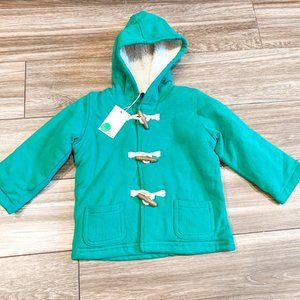 Mini Boden Green Toggle Coat NWT! Size 12-18M